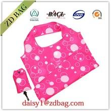 foldable shopping bag , 190T polyester folding shopping bag