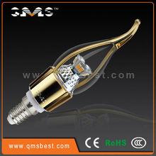 QMS E14 4.5W led flicker flame candle light bulbs,HK led lighting