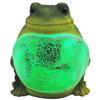 hot selling LED animal shaped polyresin mosaic frog light