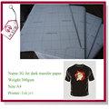 Directo de fábrica al por mayor de chorro 3g a4 tamaño 300 gsm de chorro de transferencia de calor de papel para dark100% de algodón t- shirt hecho en china