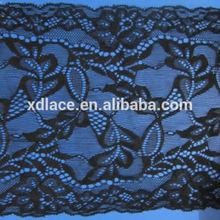 Lace Straps Black Chiffon Wedding Dresses,Black Stretched Lace Trim Supplier