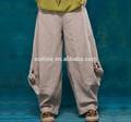 verano caliente de la venta de estilo occidental de algodón de las señoras de largo de pierna ancha mujer pantalones