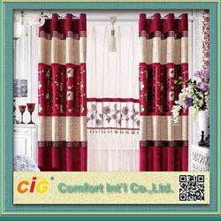 2018 Window Curtain/Ready Made Curtain/Jacquard Curtain Fabric