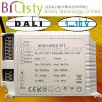 50W high power dali & 0-10v dc led power supply with high quality