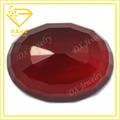forma oval granada vermelha plana de vidro pedra bloodstone gemstone