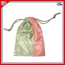 Custom PU Leather Drawstring Bag Wholesale