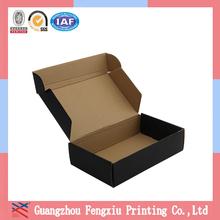 China Custom Cardboard Black Tuck Top Corrugated Mailing Box