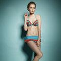 cordón caliente bikini chicas señora abierta de fotos sexy traje de baño de inglés