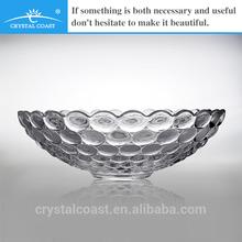 wholesale cheap clear pressed antique bubbled cut shallow glass bowl