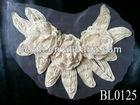 fashion headband white embroidery flower appliques