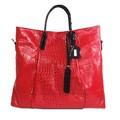 bolso de mano fuerte de diseñador, carteras de cuero de avestruz genuino