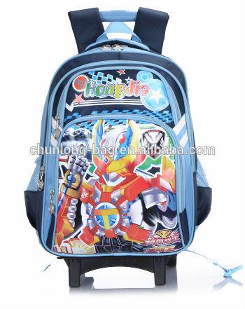 แยกการ์ตูนถุงโรงเรียนรถเข็นสำหรับเด็ก1- 6เกรด
