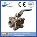 Norme din m3 en acier inoxydable vanne à bille, full port, 1000 psi- iso9001 cangzhou usine