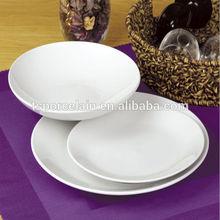 Bone china white body dinner plate for restaurant