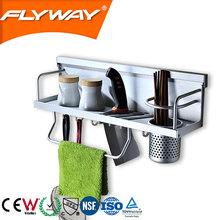 china supplier 2014 aluminum rack kitchen utensil storage rack aluminum accessories