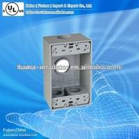 China Die-cast weatherproof aluminum outlet box