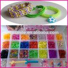 Hot selling colorful finished diy bracelet rubber loom bands/glitter loom bands/loom kit
