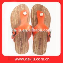 Promotion Flip Flops T shape Leather Strap Cheap Price Sandals Chappals