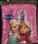 (FZB001#)Popular children school bags,kids girls high quality elsa anna Frozen drawstring bag