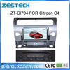 ZESTECH For citroen c4 Car dvd with gps navigation support Finean /Route66/Tomtom/Gamin map ect dvd player