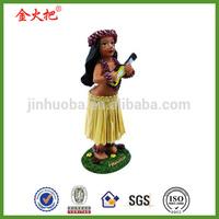 Promotion wholesale Hawaiian Dashboard Hula Girl Doll