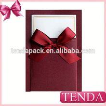 Popular printed paper folding greeting card