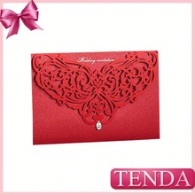Popular pms colored red wedding invitation cards
