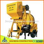portable concrete mixer JZR350 diesel engine for construction for sale