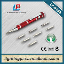 multipurpose aluminium alloy mini screwdriver pen with clip LP-5108