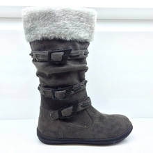 Latest High Quality Kids Girl Fashion High Boots with fur insole