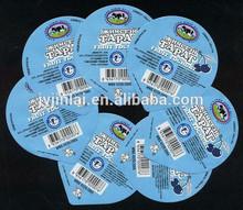 food grade aluminium lids for yogurt lids export to middle asia