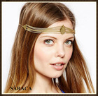 Wholesale Indian hair band gold plated hair accessories A727