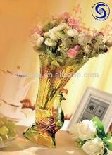 Lead free crystal glass vase with peafowl shape crystal vase