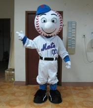 100% in-kind shooting mr met mascot costume adult mr met costume/ met mascot