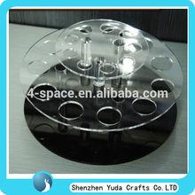 2 layered circle acrylic e liquids display holder custom wholesale plexiglass e juice stand custom e liquids holder