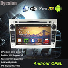 "Car dvd gps player for Opel/2 din 7"" Android 1024 600 display/capacitive touchscreen car dvd with GPS BT WIFI 3g"