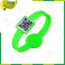 fashion color qr code rubber bands,silicone qr bracelets