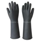 Black industrial rubber work glove,safety silicon glove(PWD36BB004)