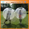 Popular PVC/ TPU plastic human size soccer bubble balls
