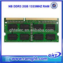 ETT original chips 128mb*8 2gb ddr3 computer memory for laptop