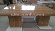 Golden Bay Travertine Dinning Table, Table Top, KTV table