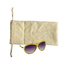 logo printed microfiber sunglasses bag