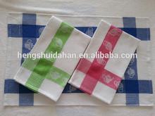 100% cotton tea towels with jacqard pattern