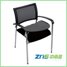 827BHYP chrome conference arm chair with writing tablet