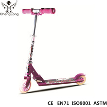 Outdoor sports children push scooter