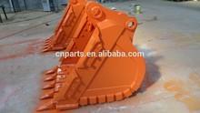 excavator hitachi bucket, excavator attachments, hitachi ZX200 3 bucket teeth rock bucket