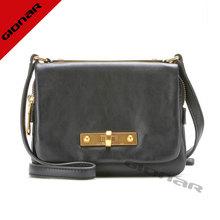 Matte black leather lady hand bag 2014 handmade London designer wholesale bags for sale