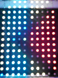 KONE--RGB light led curtain with pixel bubbles stage backdrop wedding decoration