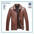 directa de la fábrica más el tamaño de los hombres de cuero chaqueta marrón sólo el diseño