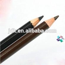 multi-color waterproof eye pencil/eyebrow pencil with cap/waterproof eyebrow pencil